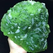 4125g Complete Deep Green Cubes Fluorite Crystal Cluster Mineral Specimen/china