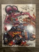 Ed Big Daddy Roth Custom Monsters Rat Fink Signed Autographed 1996