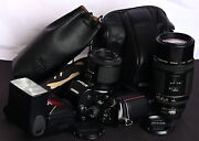 Nikon F4s Pro Af 35mm Film Slr + 80mm F/2.8, Foc 200mm F/3.5 Ed Lens And Flash Kit