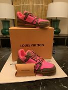 🔥 Louis Vuitton Trainer Sneakers Pink Lv9 Us10 Ltd Edition - Sold Out