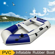 4 Person Inflatable Boat Kayaking Fishing Rowing Boat Kayak Raft W/ Oars And Pump