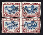 South Africa-1927. 2/6d Green And Brown Sg37. Fine Used Block Of 4.