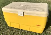 Rare Color Vintage 1975 Large 48 Qt Yellow Igloo Chest Ice Picnic Camping Cooler