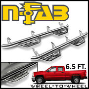 N-fab Nerf Bars W2w Podium Ss Step Bars 14-19 Silverado 1500 Double Cab 6.5and039 Bed