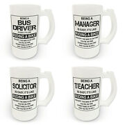 16oz Being A...is Easy Itand039s Like Riding A Bike Frosted Glass Beer Stein Various