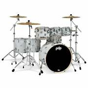 Pdp Concept Maple 7-piece Drum Shell Pack - White Moire