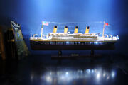 Titanic Wooden Model Ship Assembled Handcrafted With Led Lights New