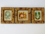 3 Miniature Oil Paintings Framed 2 By French Artist P.klaus 1 Gozar Looks Like