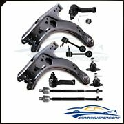 10pcs Front Control Arms Tie Rod Ends For Volkswagen Golf Jetta Beetle 1998-2005
