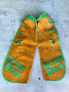 Vtg Leather Western Rodeo Chaps Adult Batwing Altus Oklahoma Ok