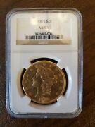 1900-s 20 Gold Liberty Head Double Eagle Coin Certified Ngc 55 Beautiful