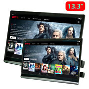 13.3 Inch Touch Screen Car Tv Headrest Monitor Android 9.0 4k 1080p Video Player