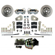 Fc0025 8307 Leed Brakes Power Front Kit With Plain Rotors And Zinc Plated