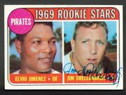 1969 Topps Jim Shellenback Rookie Stars Card 567 Autographed Pirates