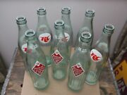 Vintage 8 Pack Of Rc/royal Crown Acl Soda Bottles With Cardboard Carrier 16 Oz.