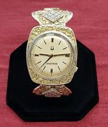 Alaska Solid Gold Nugget Vintage Watch Accutron Manual Wind Movement
