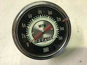 Vintage Stewart And Warner S/w Greenline 160 Mph Speedometer Head With Tell Tale