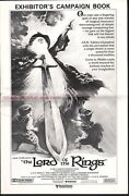 Ralph Bakshi - The Lord Of The Rings Rare Uk Campaign Book