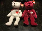 Rare Vintage Beanie Babies Valentino And Valentina Couple Mint Condition