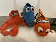 Finding Dory Lot Of Plush Toys, Dory, Hank And Nemo