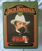 Vg+ Cond. Vintage Jack Daniels Whiskey Tin With 2 Never Used Sipper Jiggersandnbspandnbsp