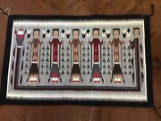 Statement Vintage Navajo 6 Figure Yei Unique And Very Colorful. A Beauty To Have