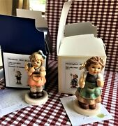 2-hummels Little Luck, And My Lucky Heart Figurines W/original Boxes And Cert