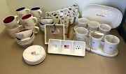 Rae Dunn 4th Of July Plates Bowls Cups Utensil Holder Set Platter Condiment Tray
