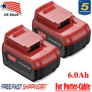 18v 6.0ah Lithium-ion Battery For Porter Cable Pc18b Pc18bl Pc18blx Tool 18 Volt
