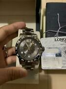 Longines Admiral L3.667.4 Date Automatic Silver Dial Watch New