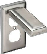 Marinco Weatherproof Stainless-steel Duplex Outlet Cover