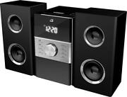 Stereo Home Music System Cd Player Am/fm Radio 2 Channel With Remote Black New