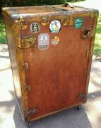 Hartmann Saks Fifth Ave. Steamer Trunk 4270 Turn Table Rare Vhtf Early 1900and039s