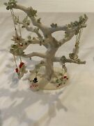 """Lenox Figural Tree With 8 Christmas Ornaments New In Box 10.5"""" Tall"""