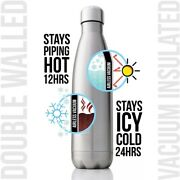Thermo Bottle Water Flask Sport Stainless Steel Double Wall Insulated Bpa Free