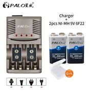Rechargeable Battery 9v Ni-mh With Smart Charger For 1.2v Aa Aaa