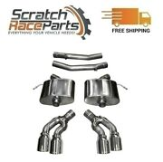 Corsa Axle-back Exhaust System Quad Rear For 16-19 Cadillac Cts 304 Ss 14358