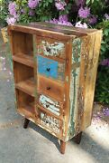 Unique Chest Reclaimed Wood Furniture Distressed Paint Curved Top 46 Modern