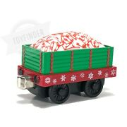 2003 Thomas And Friends Diecast Take Along Christmas Holiday Train Candy Cane Car