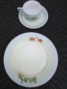 Vintage Haviland And Co Limoges Hac/l Cup Saucer Plate Signed Hand Painted