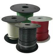 Electrical Primary Copper Wire 8 Gauge 25 100 And 500 Ft Lot - 4 Colors - Usa Made