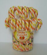 Jelly Belly Pina Colada Gourmet Candy Canes- 25 Pack