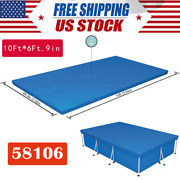 10ft6ft.9in Pe Pool Cover For Rectangular Above Ground Pools 58106 Bestway Fda