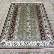 Yilong 4.5and039x6.5and039 Handmade Silk Carpet Traditional Living Room Indoor Rug H317b