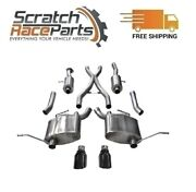 Corsa Cat-back Exhaust System W/split Rear Exit For 11-21 Jeep 304 Ss 14980blk