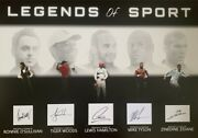 Ronnie Oand039sullivan Tiger Woods Lewis Hamilton Mike Tyson Zidane Hand Signed