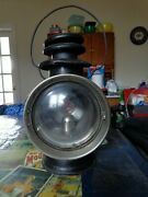 Antique Dietz Union Driving Lamp Red Back Glass Automobile