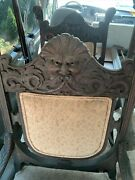 4 Antique Handcarved Northwind Chairs For Restoration Very Ornate
