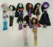 Monster High Doll Lot Used 5 Complete 3 Ooak Parts Reversible Head Zombie