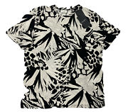 500 Saint Laurent Jungle Cotton T-shirt Size Large Made In Italy